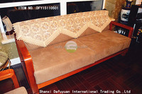 Water soluble lace embroidery sofa cover