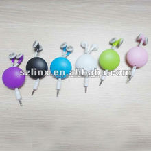 Stylish promotion retractable earphone for computer,mp3 player,mobile phone