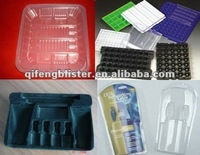 transparent clear PET/PVC/PS/PP Blister packaging tray