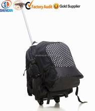 school bag sets with trolley bag and backpack for family