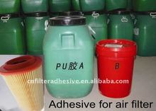 Polyurethane adhesive for air filter