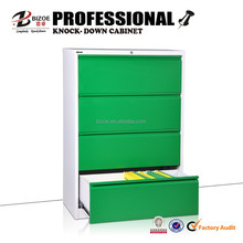Office furniture 4 drawer metal lateral filing cabinet