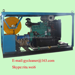 Diesel engine 1000mm sewage pipe blaster water jet drain cleaning machine