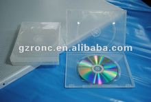 14mm pp dvd case Transparent Rectangle Single/Double DVD case