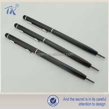 High Quality Black Slim Metal Ball Pen Touch Pen School Supply