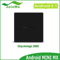 4K Amlogic S905 tv box Quad core cortexA53 64bits processor Fastest Android5.1 TV Box supports H.265 4K MINI MX