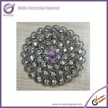 16268 Wholesale Bouquet Charm Crystal Buckles Rhinestone Buckles Wedding Napkin Ring Buckle