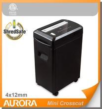 Aurora AS1290CM Plastic Paper Shredder, 12 sheet (A4) Mini crosscut 4 x12mm.Medium DutyShredding machine for Office & SOHO