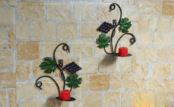 Wholesale Metal Handicrafts Antique Plant Leaves Candle Holder ...