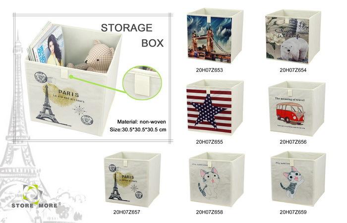 Pas cher non tiss pliable cube bo te de rangement en tissu pour enfants bo tes caisses de - Cube rangement tissu ...