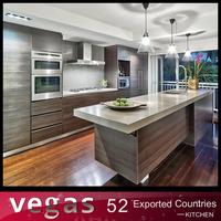 European standard grey colored kitchen cabinet design sample