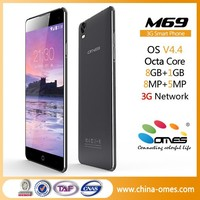 "Sper Slim Super Fast Model OMES M69 5.5 inch 3G Android mobile phone 5.5"" octa core"