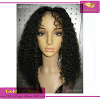 """Free shipping 10""""-26""""full lace wig 7a Real soft fashion tangle free kinky curly human hair wigs for black women"""