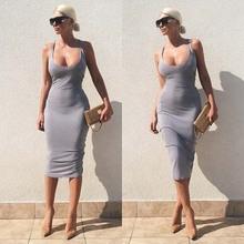 Spaghetti Strap Dress Bodycon Sexy Women Club Dresses Summer Dress