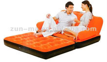 Multi-purpose folding air sofa bed, chaise lounge 5 in 1 inflatable sofa bed