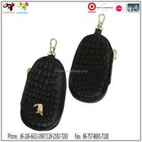 Custom leather metal key ring wallet key chain promotional