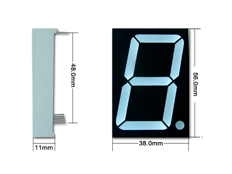 Red and green Dual color 7-segment led display 1.8 inch 7 segment led bicolor display