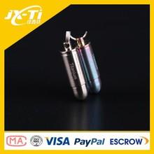 Edc Mini Bullet conception titane pill box, Stockage contenants en métal