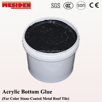 Color stone coated metal roofing tile adhesive