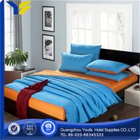 woven wholesale plain flax / linen bedding set