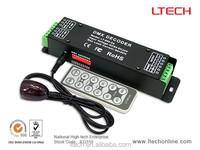 IR remote control used with DMX 512 console LED DMX Decoder 5A/CH*3 LT-850-5A