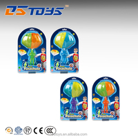 Custom small promotional flying mini parachute toys with plastic doll