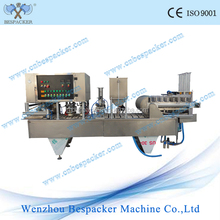 automatic aluminium foil plastic cup sealer with washing