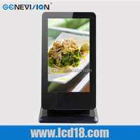 22inch standing cheap all in one pc counter display touch table with different requirement