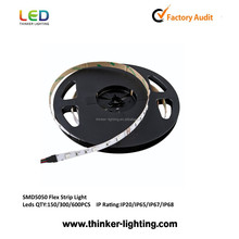 12V 24V 110V 220V SMD 5050 3528 flexible ul listed led strip