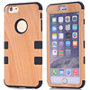 3 In 1 Pattern Wood Texture Hybrid New Brand Case for Apple iPhone 6