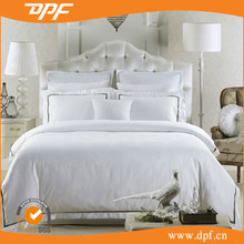 Luxury hotel wholesale white bed sheet sets