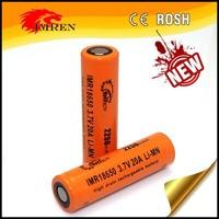 us18650gr IMREN 40a IMREN 18650 20A 2250mAh 3.7V 18650 with IMREN 38A high drain rechargeable battery with flat top