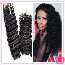 raw unprocessed deep wave hairstyles for black women bundles weft weave weaving virgin peruvian remy human hair extensions