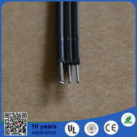 2015 best seller indoor outdoor G657A FRP LSZH 2 core ftth drop fiber optic wire cable