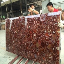 Semi Precious Stone Red Agate Stone Tile,Agate Stone/agate Rough