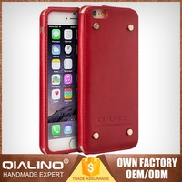 Factory Price Direct Low Price First Layer Leather Protective Case For Iphone6