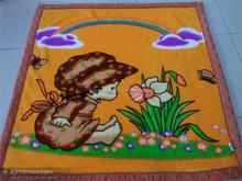 Double blanket plush velveteen + coral blanket Newborn children blanket