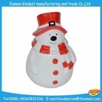 2016 christmas snowman design cookie& candy jar
