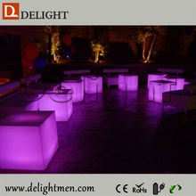 colors changing led cube seat for living room