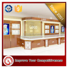 Royal luxury cherry wood wall cabinet units and jewelry for mall,jewery display cabinet