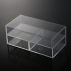 Acrílico transparente caixa tampa do compartimento