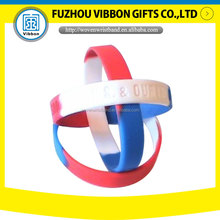 Eco-friendly Material Silicon Wristband/bracelets for sale