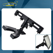 360 Degrees Revolving Car Headrest Tablet Holder with Big Clip for iPad 2 3 4 5 & 7-10 Inch