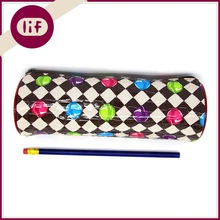 Chic Round Profile Stone Pattern Candy Printing PP Pencil bag, With Candy Printing PP Pencil Bag, Glossy PP Pencil Bag