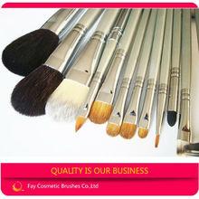 Fay 12pcs sable makeup brushes white