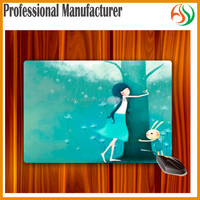AY Cheap custom gaming Fabric Surface Rubber Backed Microfiber Mouse Pad