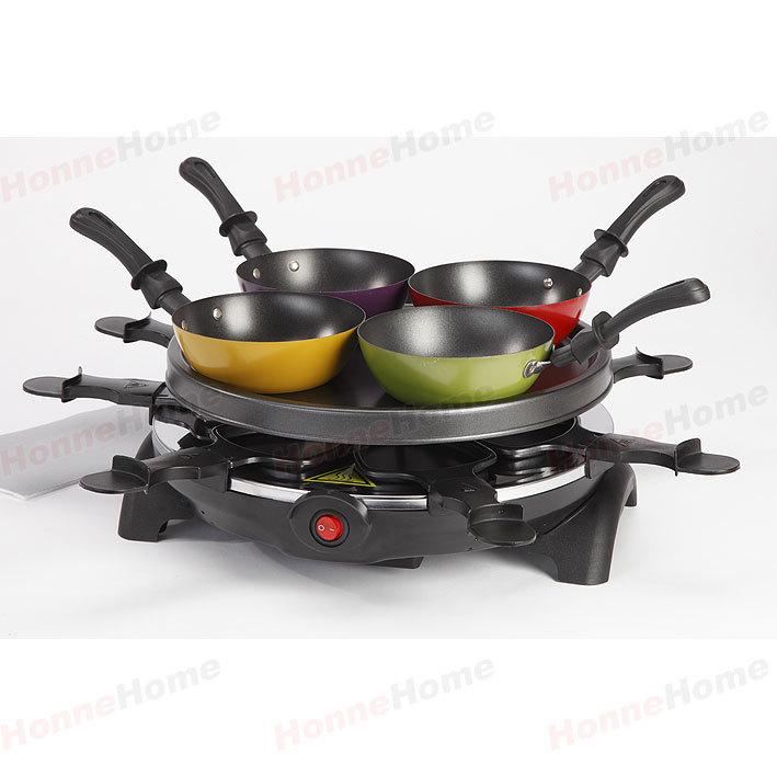 Yapışmaz Kaplamalı Barbekü Mini Izgara Plakası ile n Woks Raclette ızgara
