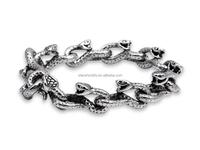 Fashionable men's bracelet the snake desige heavy man chain bracelet stainless steel chain bracelet for man