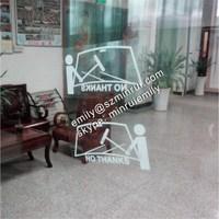 Custom transparent car window static cling stickers