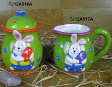 originalità tazza in ceramica con coperchio per pasqua